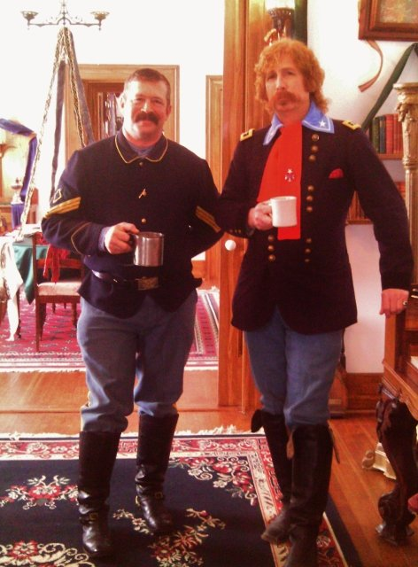 General Custer and First Sergeant Johnson