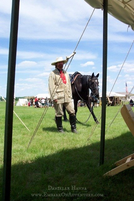 Steve Alexander portraying General Custer at Fort Abraham Lincoln