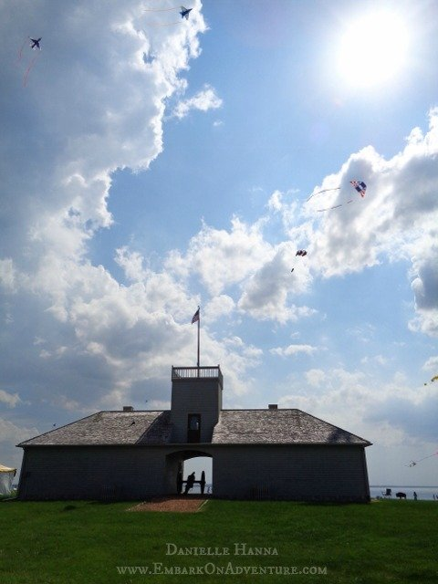 Kites over Guardhouse, Fort Stevenson State Park